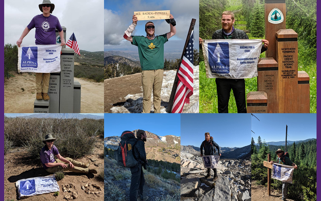 Jonathan Maidment completes a thru-hike of the Pacific Crest Trail raising awareness and funds for Alpha-1
